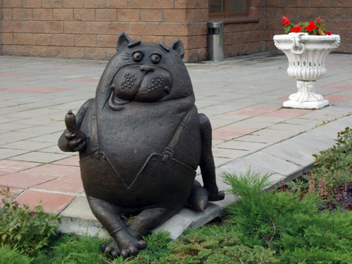 Monument to Cat Vasily - Unusual Moscow monuments | Moscowplaces.com