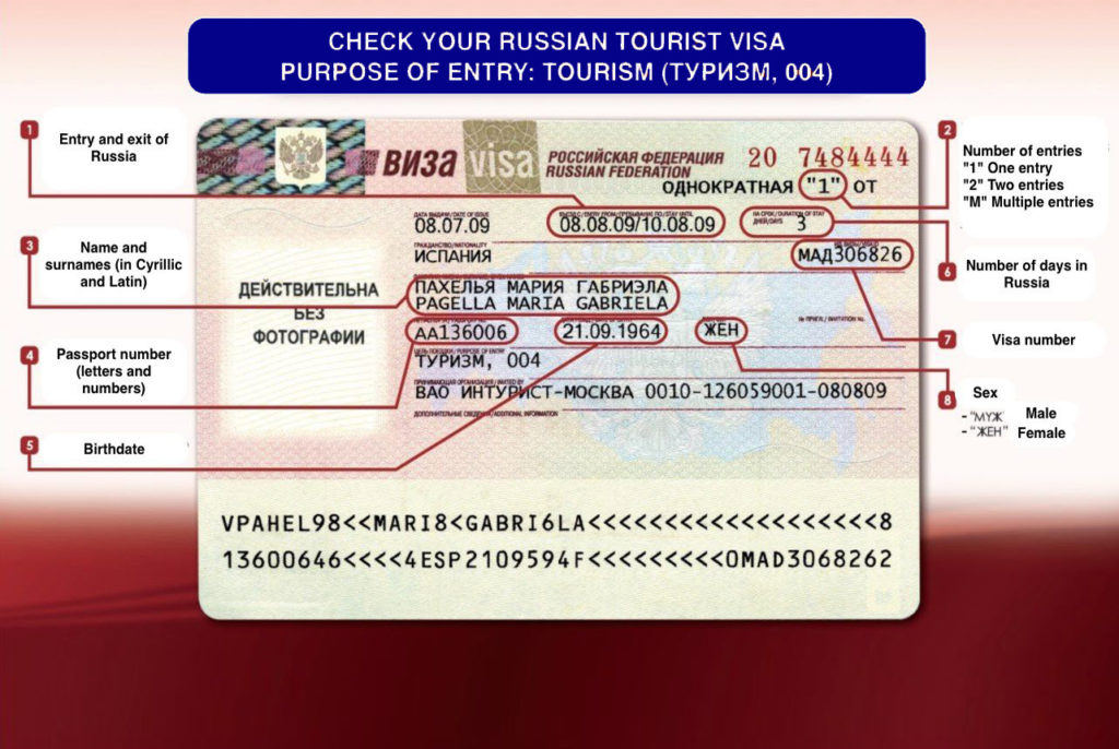 Tourist visa - Russian visa for Indians - Moscowplaces
